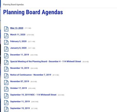 Quincy planning board
